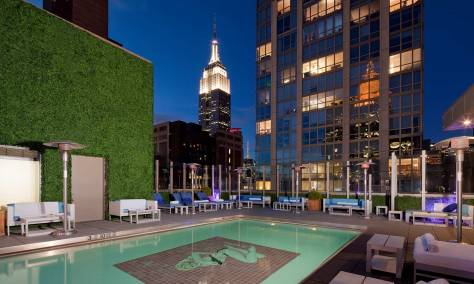 Rooftop Pool at the Gansevoort Park Hotel