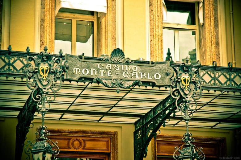Photograph of the entrance to the world-famous Casino Monte Carlo.