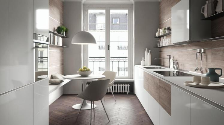 Altro esempio di disposizione cucina lineare è quella collocata su due fronti. Come Scegliere La Forma Corretta Della Tua Cucina Articolo Con Foto Helle Kitchen
