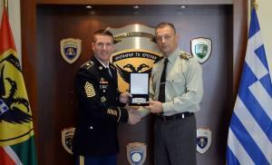Επίσκεψη στο ΓΕΣ του Αρχηγού των Υπαξιωματικών του Στρατού των ΗΠΑ