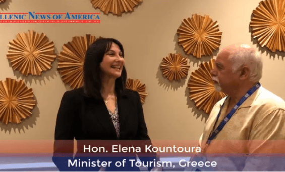 Greece's Minister of Tourism, Elena Kountoura, invites you to visit Greece -Hellenic News Of America .Binteo