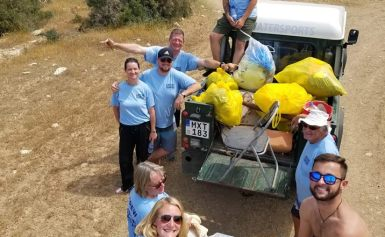 LATCHI WATERSPORTS BEACH CLEAN UP Let's Do It Cyprus