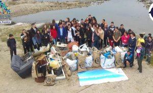 All For Blue organizationμε την πολύτιμη βοήθεια 240 μαθητών από το ΕΠΑΛ Σύρου και των αυτοδυτών από το GreekScuba.