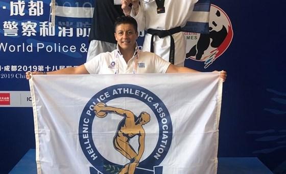 Στην κορυφή του κόσμου στο αγαπημένο της άθλημα έφτασε η αστυνομικός από την Ορεστιάδα, η Σαραντούλα Παγωνάκη