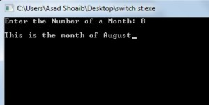 switch statement C++ example