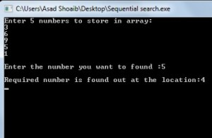 Sequential search in C++ example