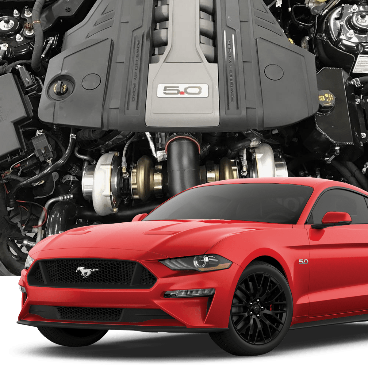 hellion 2018 ford mustang gt top mount twin turbo system