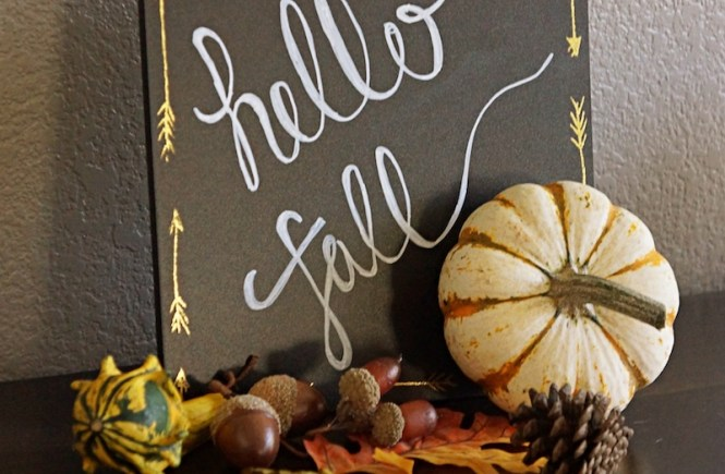 Happ Fall Sign Foliage Pumpkin