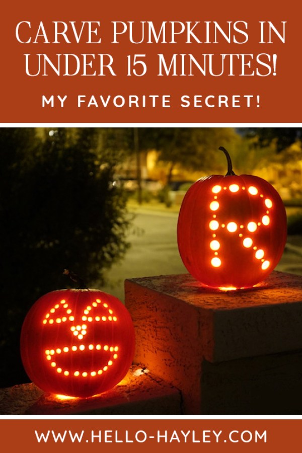 how to carve pumpkins with a power drill