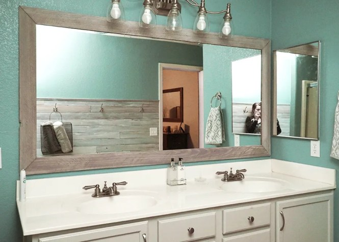 Diy Master Bathroom Makeover With Before And Afters Hello Hayley