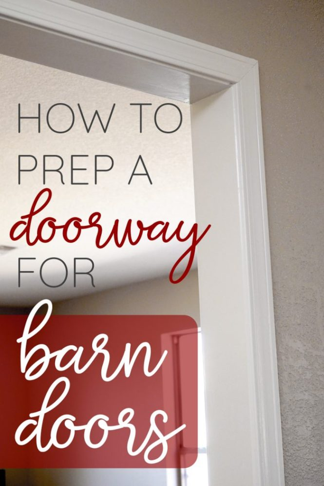 Learn how to frame a doorway for barn doors! Pin it!