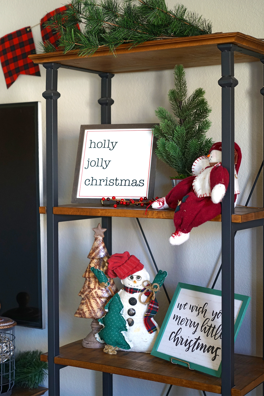 christmas decorating tips - entertainment center
