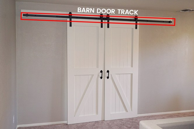 how to hang barn doors - the track