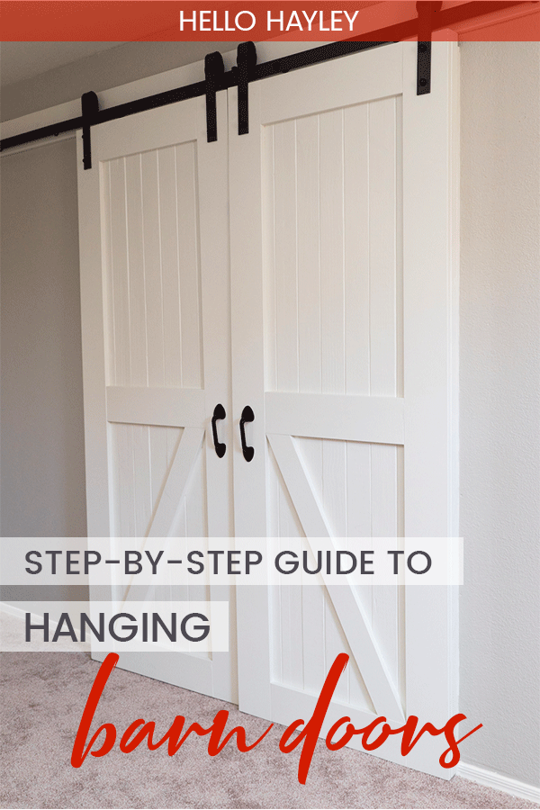 how to hang barn doors - a simple guide - pin
