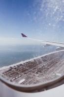 Landeanflug über New York
