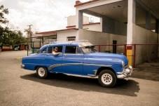 Blaues Taxi nach Viñales