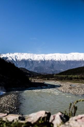 Gebirgszug bei Permet in Albanien