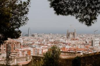 Aussicht auf Barcelona mit Sagrada Familia