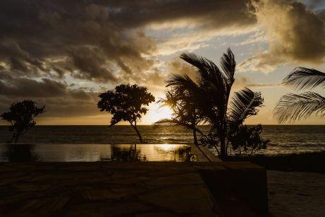 Sonnenaufgang im Jaribu Beach Hotel