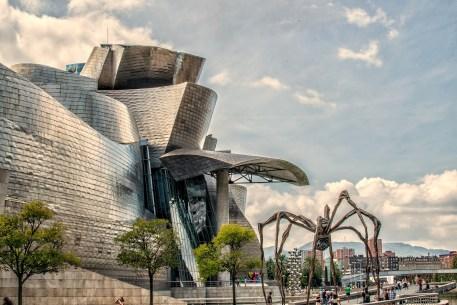 Das Guggenheim-Museum in Bilbao in Nordspanien