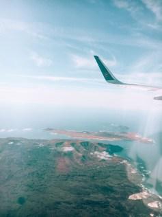 Blick auf Lanzarote und La Graciosa aus dem Flugzeug