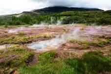 Heiße Quellen beim Strokkur-Geysir