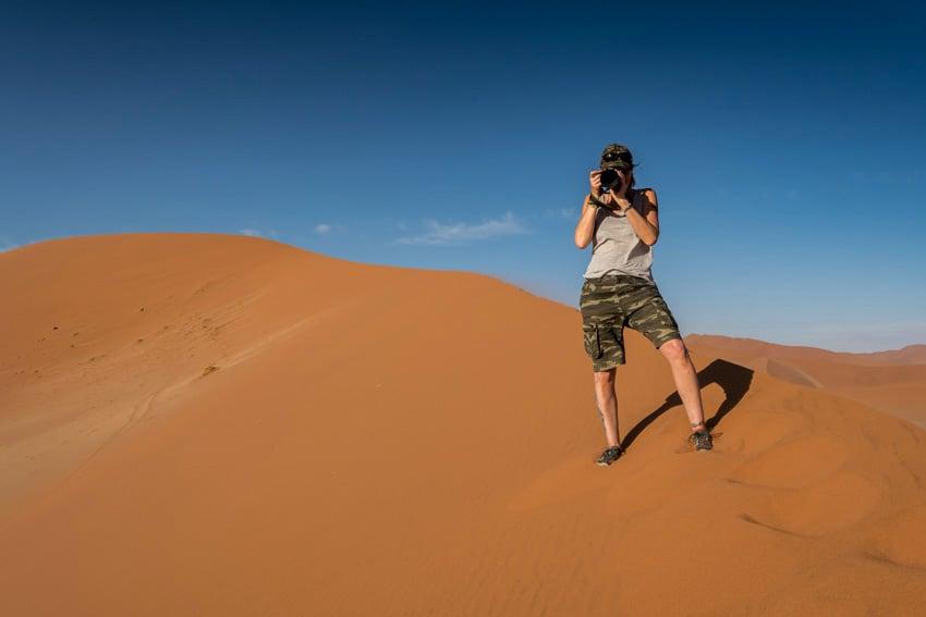 Grosser Sandkasten in der Namib Desert