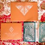 art deco Indian wedding invite by invitation maker Azure