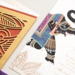 elephant detail with laser cut folio | AZURE