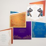 luxury indian wedding invitation with elephants | AZURE