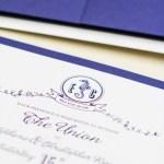 navy gatefold nautical invitation