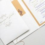 gold foil and navy on cream shimmer   AZURE