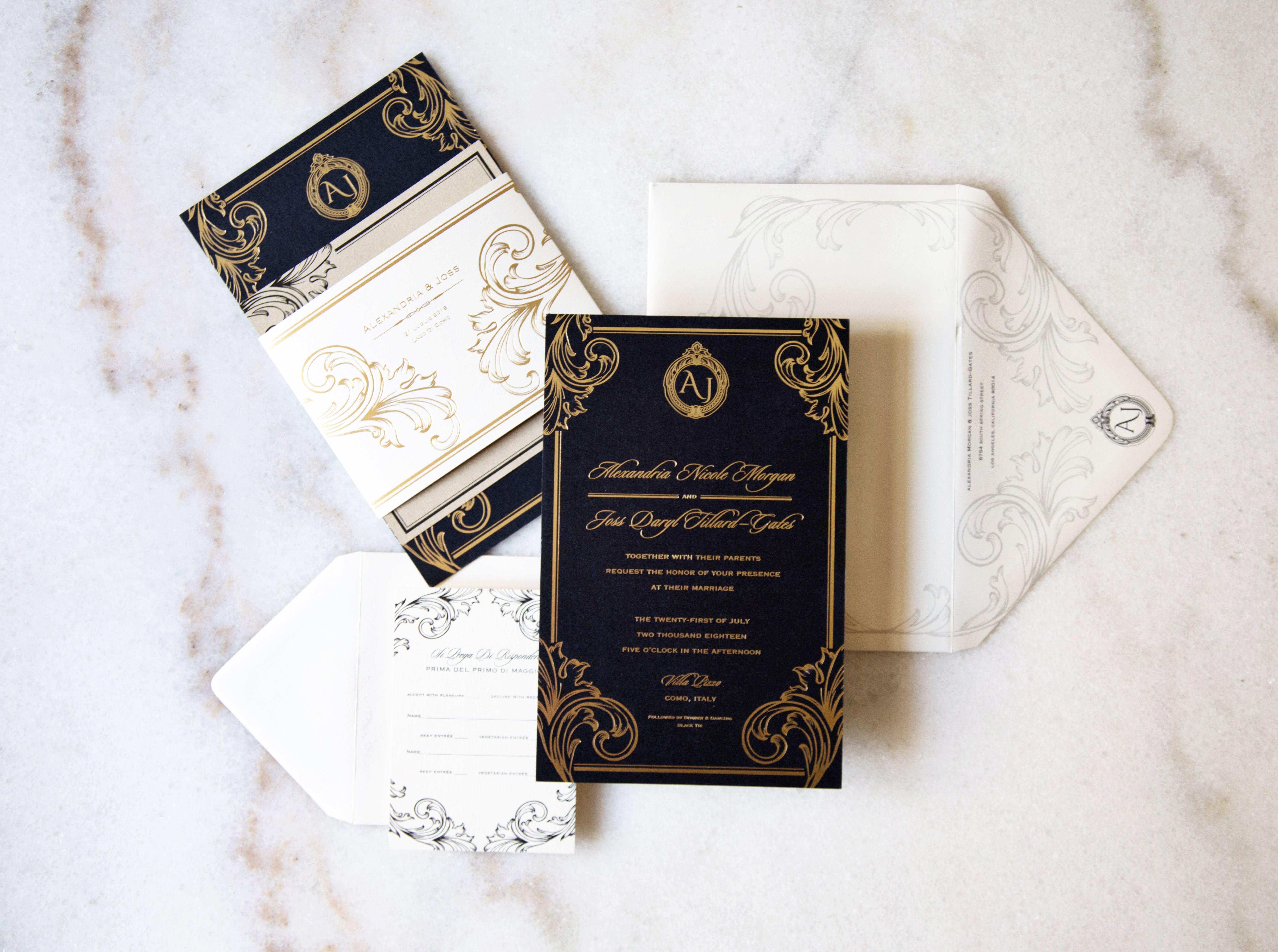 custom invitation suite