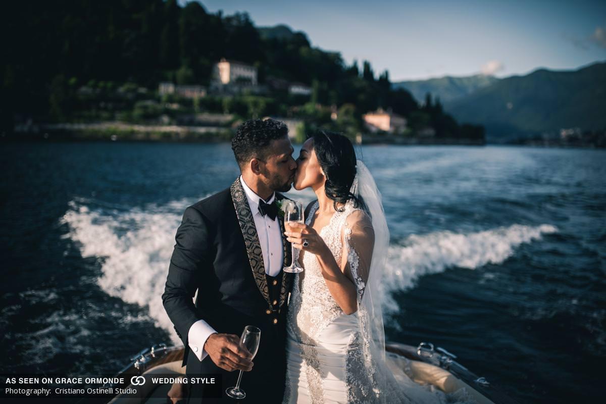 Alexandria & Joss share a sweet kiss and champagne!