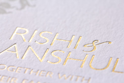Matte Gold Foiling on thick paper