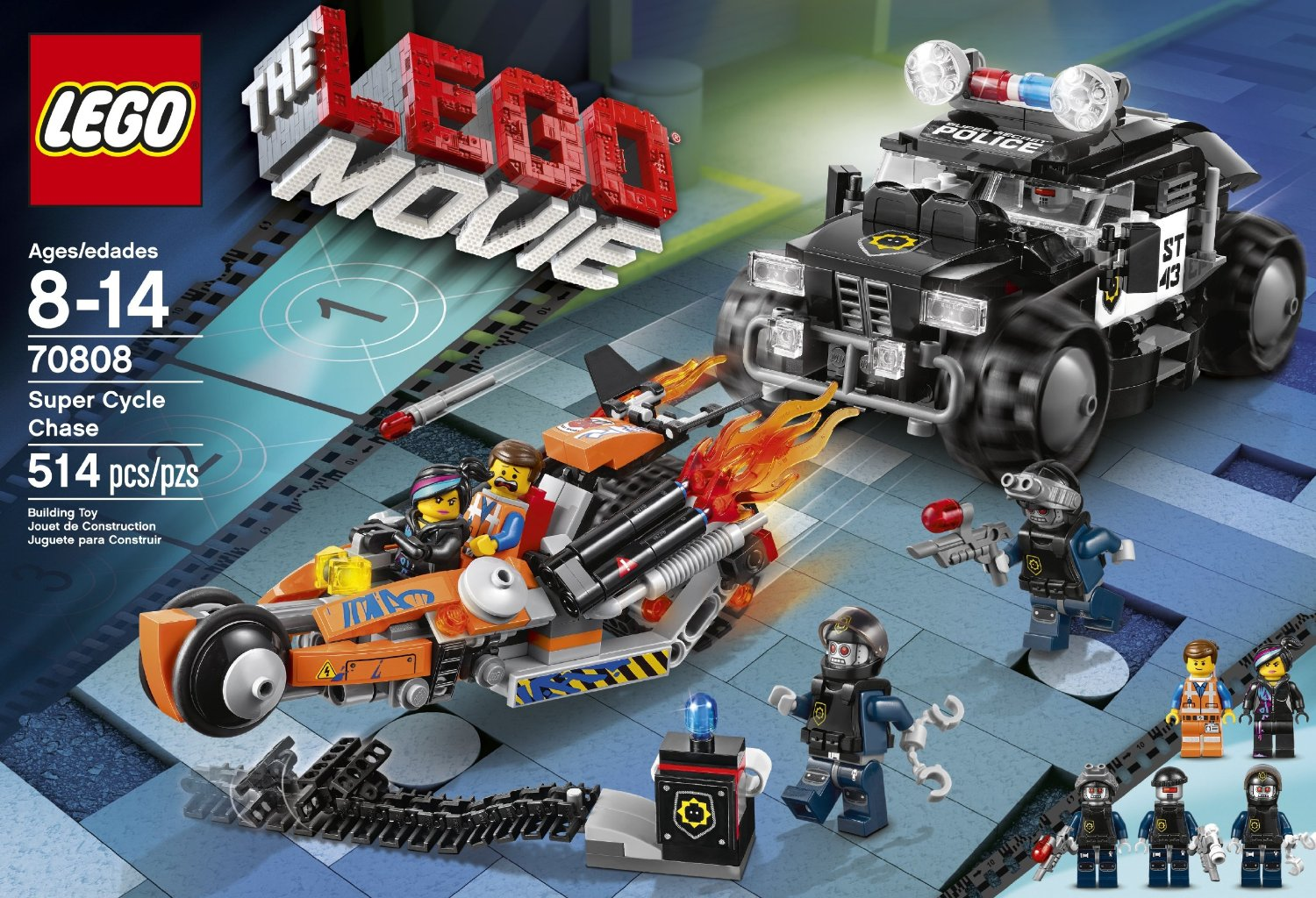 70808 Lego Movie Poursuite Hellobricks Review La Super K1FTlcuJ3
