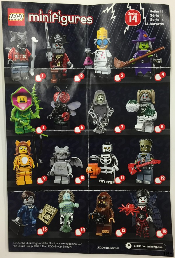 71010 Monsters Collectible Minifigures series 14 leaflet