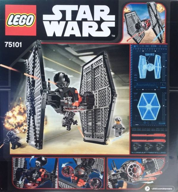 75101 First Order Special Forces Tie Fighter box back