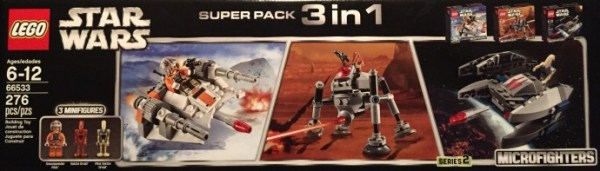 66533 LEGO Star Wars Microfighters Super Pack 3 in 1 (Series 2)