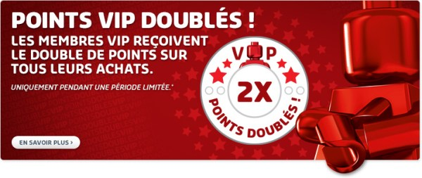 points LEGO VIP doublés