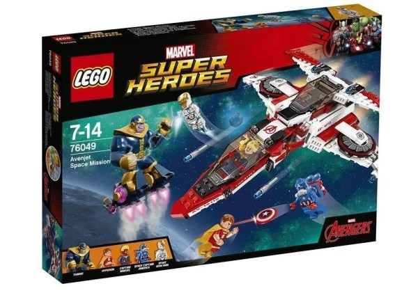 LEGO Marvel 2016 Super Heroes Avenjet Space Mission (76049) box