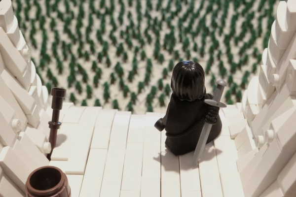 Lego Game of Thrones The Wall pespective forcée
