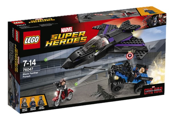 76047 Black Panther Pursuit box LEGO Captain America Civil War