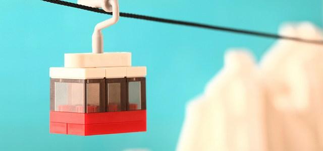 Micro télécabine : 11 pièces seulement !