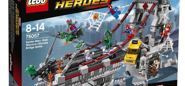 LEGO Marvel Super Heroes 76057 Spider-Man Web Warriors Ultimate Bridge Battle box