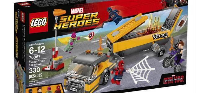 LEGO 76067 Marvel Super Heroes Tanker Truck Takedown box