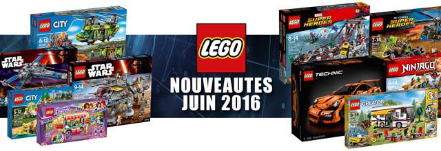 Nouveautés LEGO juin 2016