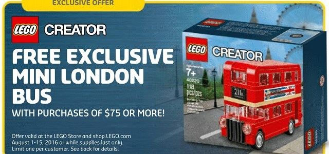 LEGO Creator 40220 Mini London Bus offert en août ?