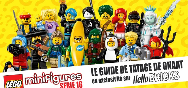 Guide de tatage LEGO Collectible Minifigures serie 16