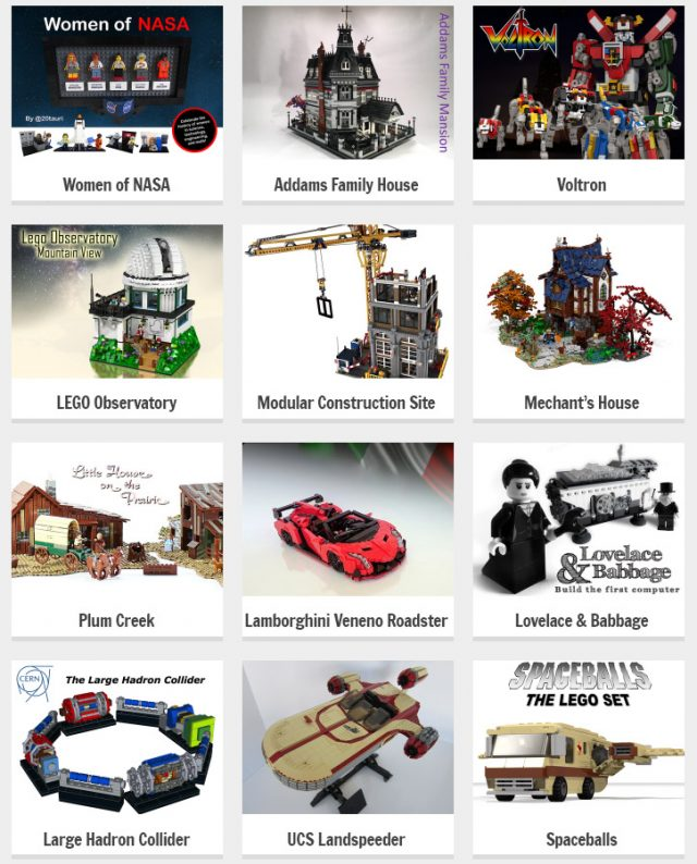 LEGO Ideas 2016 2nde phase review